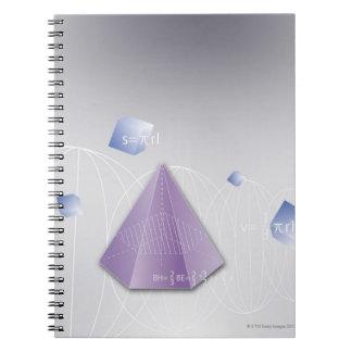Formula, graph, math symbols 8 notebook