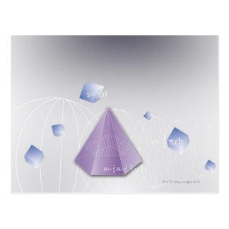 Formula, graph, math symbols 8 postcard