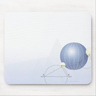 Formula, graph, math symbols mouse pad
