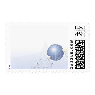 Formula, graph, math symbols postage
