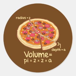 Fórmula matemática = Pi*z*z*a del volumen de la Pegatina Redonda