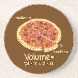 Fórmula matemática = Pi*z*z*a del volumen de la pi Posavasos Personalizados
