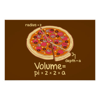 Fórmula matemática = Pi*z*z*a del volumen de la pi Póster