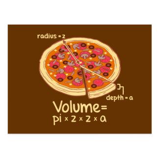 Fórmula matemática = Pi*z*z*a del volumen de la Postales