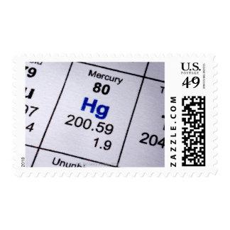Fórmula molecular de Mercury Sellos Postales