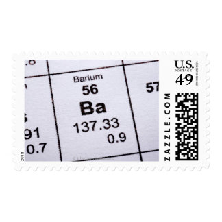 Fórmula molecular del bario sellos