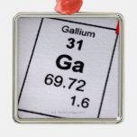 Fórmula molecular del galio ornamento para reyes magos