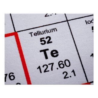 Fórmula molecular del telurio poster