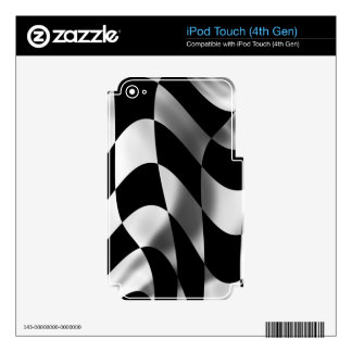 Formula One Fever Passion Checked Flag Racing iPod Touch 4G Decals