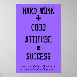Fórmula para el éxito póster
