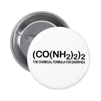 Fórmula química divertida para el botón de la diar pin redondo de 2 pulgadas