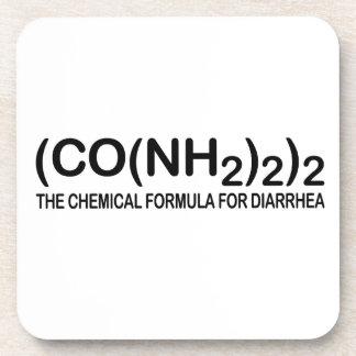 Fórmula química divertida para el práctico de cost posavaso