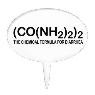 Fórmula química divertida para el primero de la to figuras de tarta