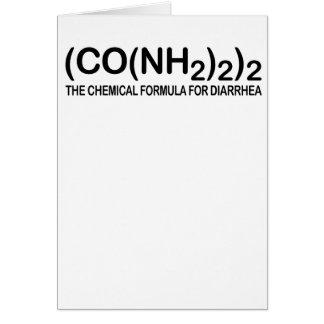 Fórmula química divertida para la tarjeta de felic