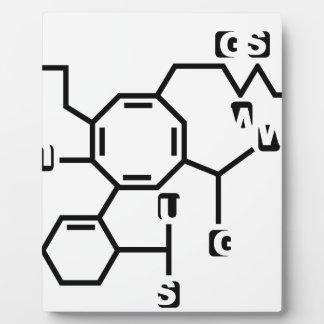 Fórmula química falsa placas con fotos