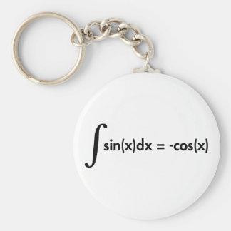 Formula Stammfunktion sine of anti-derivatives Basic Round Button Keychain