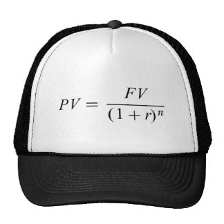 "Formula 'Time value of money"" Trucker Hat"