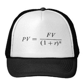 """Fórmula 'valor de época del dinero """" gorras"""