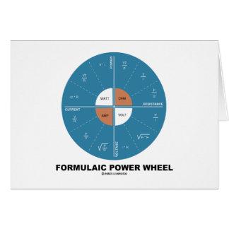 Formulaic Power Wheel (Physics Equations) Cards
