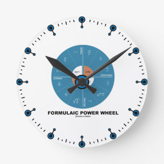 Formulaic Power Wheel (Physics Equations) Round Clock