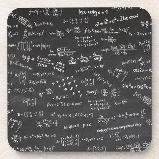 Fórmulas y números de la matemáticas posavasos de bebidas