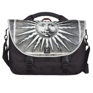 Fornasetti's Sun Anthropomorphized Laptop Computer Bag