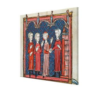 Fornicación y crimen confiados por un sacerdote impresión en lienzo estirada