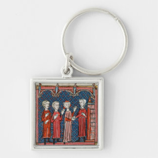 Fornication and Crime Committed by a Priest Silver-Colored Square Keychain