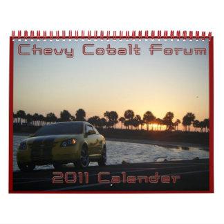 Foro del cobalto de Chevy Calendarios