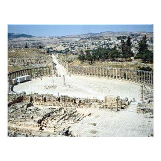 Foro oval del templo de Zeus, ciudad romana de Jer Tarjeta Publicitaria