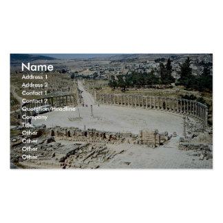 Foro oval del templo de Zeus, ciudad romana de Jer Tarjeta Personal