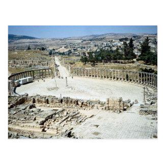 Foro oval del templo de Zeus, ciudad romana de Jer Postales