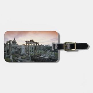 Foro romano en el amanecer etiqueta para equipaje