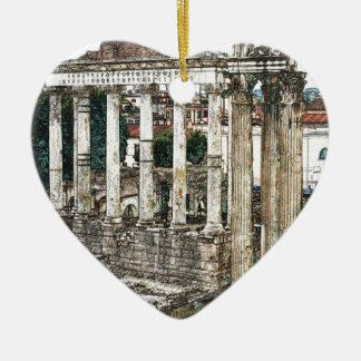 Foro romano en tiza ornamentos de reyes
