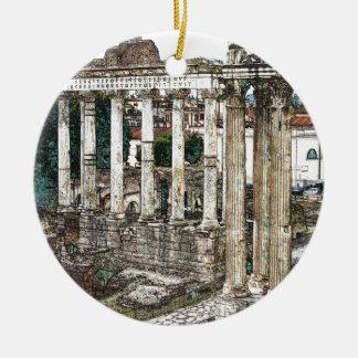 Foro romano en tiza ornamentos de navidad