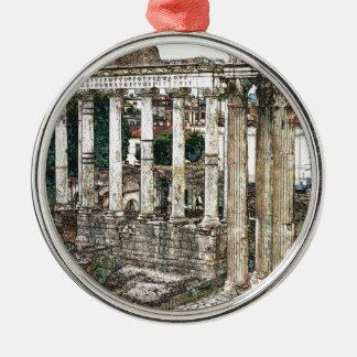 Foro romano en tiza adornos de navidad