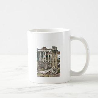 Foro romano en tiza taza