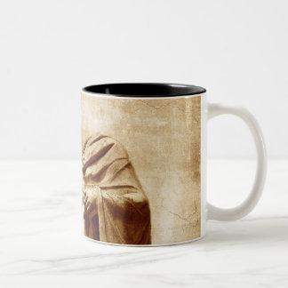foro romano, estatua sin cabeza del líder romano tazas de café
