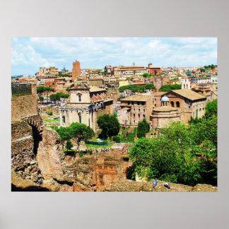 FORO ROMANO Italia - ruinas de la foto de Roma Posters