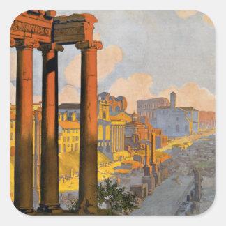 Foro romano pegatina cuadrada