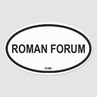 FORO ROMANO PEGATINA OVALADA