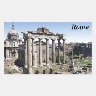Foro romano pegatina rectangular