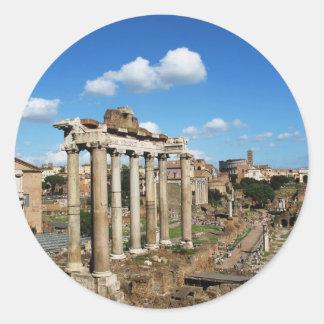 Foro romano pegatina redonda