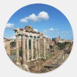 Foro romano pegatinas redondas
