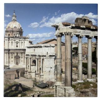 Foro romano, Roma, Italia Azulejo Cuadrado Grande
