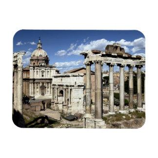 Foro romano, Roma, Italia Imán Rectangular