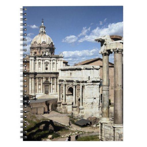 Foro romano, Roma, Italia Libro De Apuntes