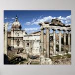 Foro romano, Roma, Italia Póster