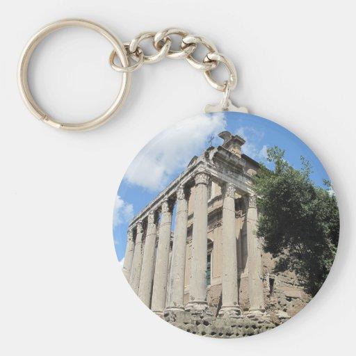 Foro romano - templo de Antoninus Llavero Personalizado