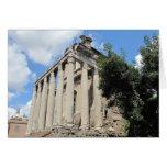 Foro romano - templo de Antoninus Tarjetón